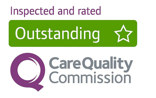 Inspected and rated Outstanding by the Care Quality Commission